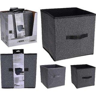Aufbewahrungsbox mit Griff 30x30x30cm grau Organizer Storage