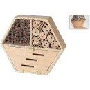 Insektenhotel Bienenhotel 6-eckig 30x26x6,5cm natur