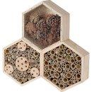 Insektenhotel Bienenhotel wabenförmig 35x35x7,5cm natur