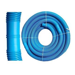 Schwimmbadschlauch Poolschlauch blau Ø32mm mit Muffen, Abstand 1,10m Meterware Schwimmbadschlauch Spiralschlauch Pool-Flex