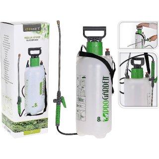 Drucksprüher 8l grün Drucksprühgerät, Gartenspritze, Pflanzensprüher