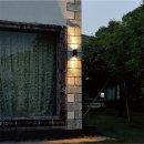 Steinhauer LED Außenwandleuchte reckteckig Schwarz 2 flammig 1497ZW