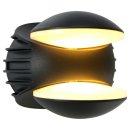 Steinhauer LED Außenwandleuchte Schwarz 2 flammig...
