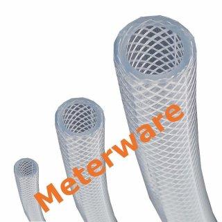 PVC Gewebeschlauch klar Ø16x24mm Meterware Druckluftschlauch