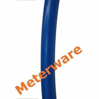 PVC Gewebeschlauch blau Ø19x26mm Meterware Druckluftschlauch