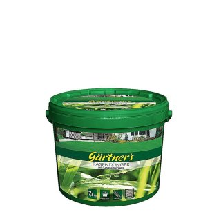 Premium Rasendünger im Eimer mit LZW 7,5 kg kompaktiert