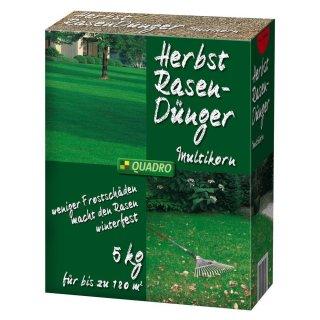 Herbst-Rasendünger Multikorn 5 kg für 180 m²