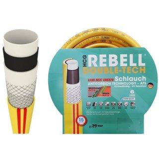 """Premium Wasserschlauch / Gartenschlauch REBELL DOUBLE-TECH 1"""" 100 Meter"""