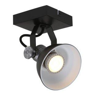 Steinhauer Deckenstrahler Brooklyn LED 1-licht 1533 Schwarz