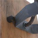 Steinhauer Wandleuchte Spot Geurnesey Holz Grau