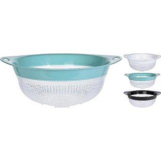 Küchensieb Nudelsieb Seiher 31cm weiß, grün oder schwarz Küchen Sieb Abtropfsieb Abgiesser Abgießsieb Abschütthilfe