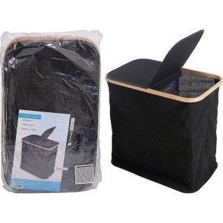 Wäschetonne schwarz 53x33x51cm Wäschekorb Wäschesammler Laundry schwarz