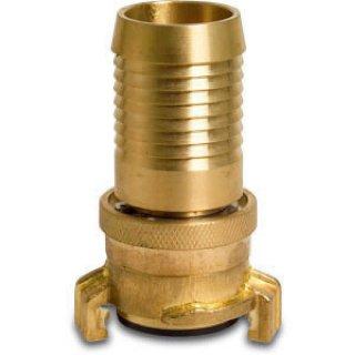 Saug- und Hochdruckkupplung Messing 13 mm Schlauchtülle KA 40 25bar Typ Drehgelenk